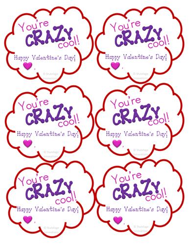 Stutelage Innovations :: Valentine\'s Day Crazy Straw Label