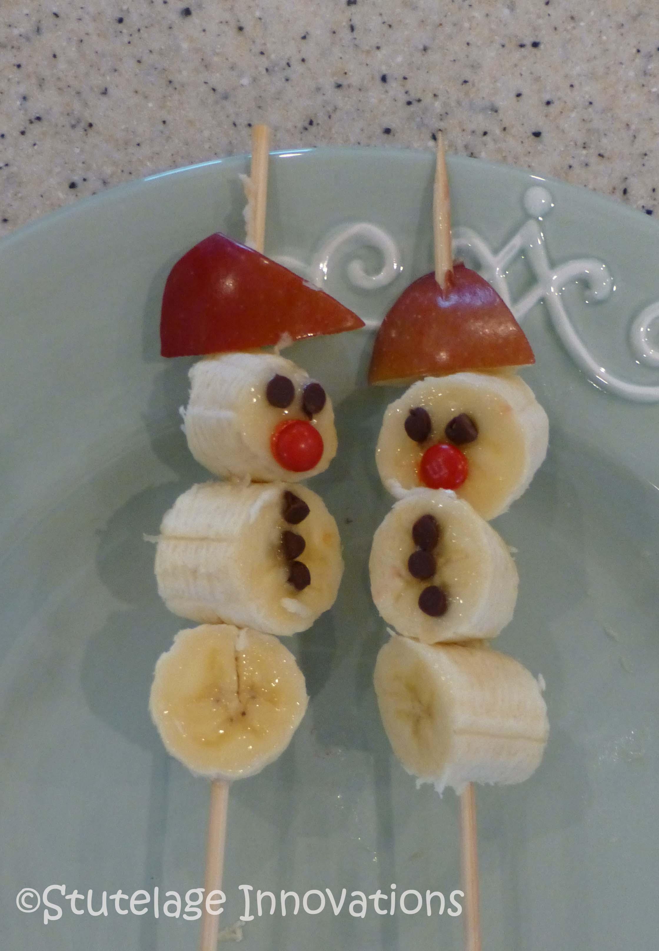 stutelage innovations    quick banana snowman snack